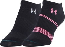 Women's Under Armour Grippy III No-Show 2-Pack Socks