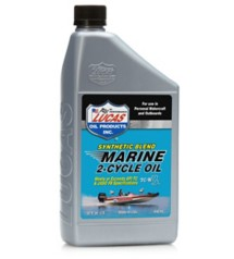 Lucas Oil Synthetic Blend 2-Cycle Marine Oil Quart