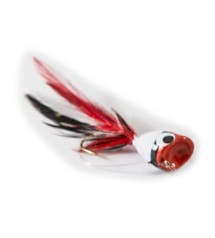 Umpqua Bass Popper without Legs Fly Lure Red-White