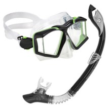 Adult U.S. Divers Sideview II LX Mask Paradise Dry LX Snorkel Combo