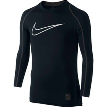 Youth Boys' Nike Pro Cool HBR Fitted Long Sleeve Shirt