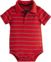 Infant Boys' Under Armour Striped Polo Onesie
