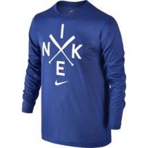Youth Boys' Nike Dry Baseball Logo Training Long Sleeve Shirt