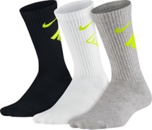 Youth Nike Graphic Cotton Cushioned Crew Socks 3 Pack