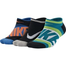 Youth Nike Graphic Cotton Cushion Socks 3 Pack