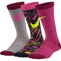 Youth Nike Graphic Lightweight Cotton Crew Socks 3 Pack