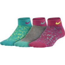Youth Nike Graphic Lightweight Cotton Low-Cut Socks 3 Pack