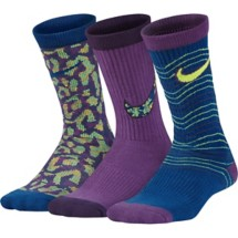 Youth Girls' Nike Performance Cushion Crew Socks - 3 Pack
