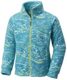 Youth Girls' Columbia Benton Springs Print Fleece Jacket