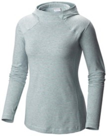 Women's Columbia Layer First II Striped Long Sleeve Sweatshirt