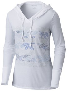 Women's Columbia Sandy Stripes Hooded Long Sleeve Shirt