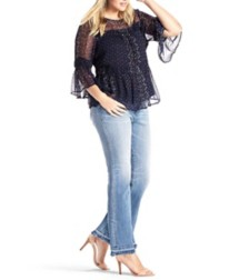 Women's Lucky Brand Plus Size Shirred Peasant Shirt