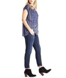 Women's Lucky Brand Plus Size Decanta Border Print Shirt