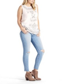 Women's Lucky Brand Plus Size Embroidered Tank