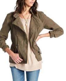 Women's Lucky Brand Asymmetrical Military Jacket