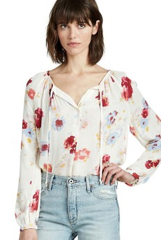 Women's Lucky Brand Floral Raglan Long Sleeve Blouse