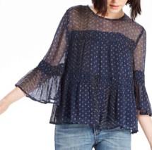 Women's Lucky Brand Shirred Peasant Shirt