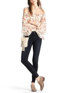 Women's Lucky Brand Shirred Off The Shoulder Shirt