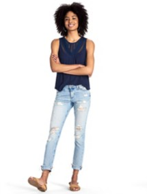 Women's Lucky Brand Mixed Lace Tank