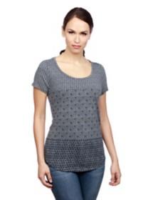 Women's Lucky Brand Indigo Ditsy Short Sleeve Shirt