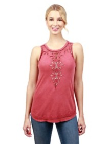 Women's Lucky Brand Embroidered Washed Tank