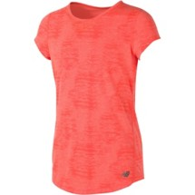 Youth Girls' New Balance Burnout Short Sleeve Performance T-Shirt
