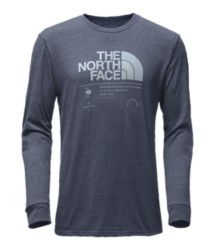 Men's The North Face Logo Stack Tri-Blend Long Sleeve T-Shirt