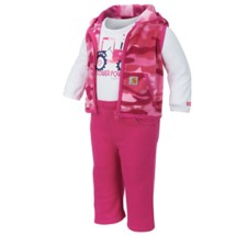 Infant Carhartt Flower Power 3 Piece Pant Set