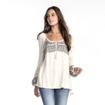 Women's Miss Me Chasing Dreams Peasant Long Sleeve Shirt