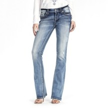 Women's Miss Me Play It Cool Mid-Rise Bootcut Jean