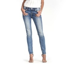 Women's Miss Me Sure Thing Mid-Rise Moto Skinny