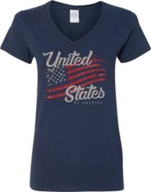 Women's Spectrum Full Flag V-Neck Short Sleeve Shirt