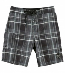 Youth Boys' O'Neill Santa Cruz Plaid Boardshort