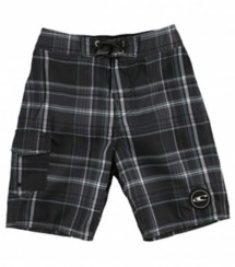 Preschool Boys' O'Neill Santa Cruz Plaid Boardshort