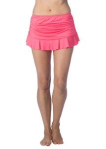 Women's 24th & Ocean Solid Ruffle Hem Bottom