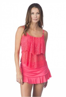 Women's 24th & Ocean Sheer Brilliance Tiered Tankini