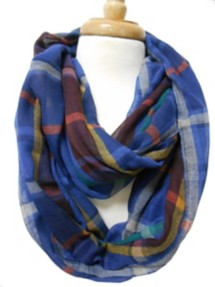 Women's Tommy and Me Plaid Infinity Scarf