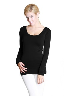 Women's Nikibiki Scoop Neck Long Sleeve Shirt