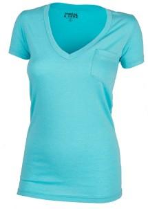 Women's Seeded & Sewn V-Neck Pocket Short Sleeve Shirt
