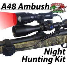 Wicked Hunting A48 Ambush Hunting Light Kit Red LED