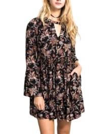 Women's Hem & Thread Floral Printed Dress