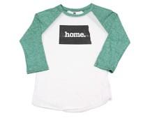 Adult Home State Apparel North Dakota Raglan 3/4 Sleeve Shirt