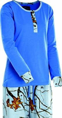 Women's Yukon Gear Henley Sleepwear Set