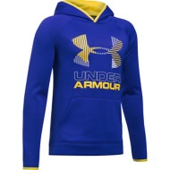 Youth Boys' Under Armour Storm ARMOUR Fleece Solid Big Logo Hoodie