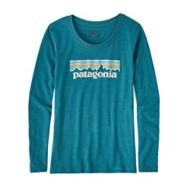 Girl's Patagonia Long-Sleeved Pastel P-6 Logo T-Shirt