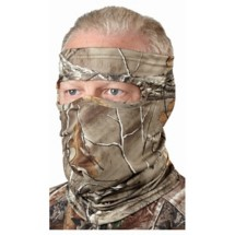 Scent-A-Way Silver Lightweight Spandex 3/4 Face Mask