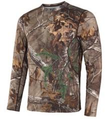 Men's Terramar Thermolator Camo 2.0 Base Layer Crew Shirt