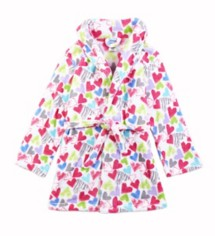 Youth Girls' Cloud 9 Hearts Robe
