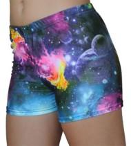 Women's Gem Gear Galaxy Print Spandex Short