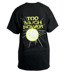 Women's Tandem Too Much Power Volleyball T-Shirt
